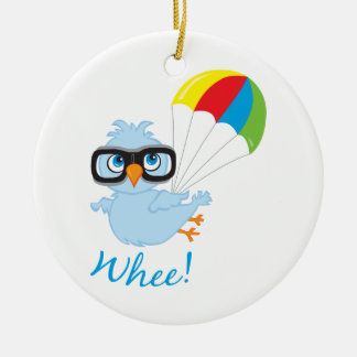 Birdy Parachute Round Ceramic Decoration