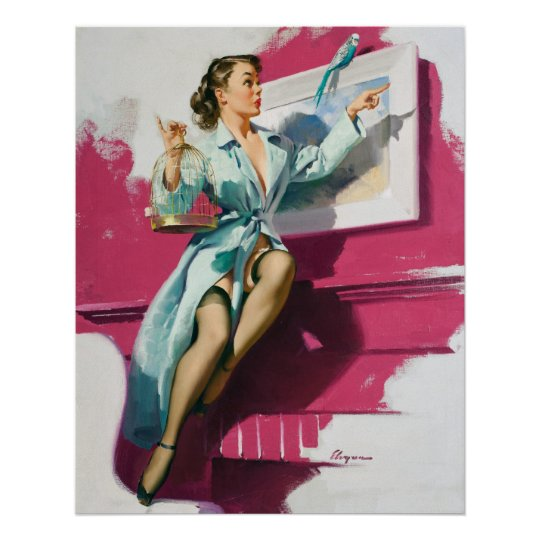 Birdy Pin Up Poster