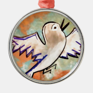 birdy Silver-Colored round decoration