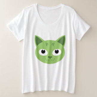 Birka the green Cat Plus Size T-Shirt