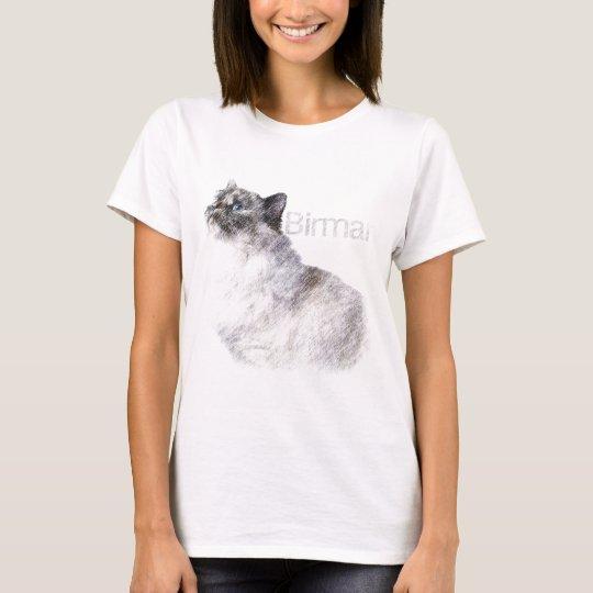 Birman 2 Pencil Art T-Shirt