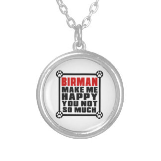 BIRMAN MAKE ME HAPPY YOU NOT SO MUCH ROUND PENDANT NECKLACE