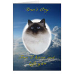Birman Pet Sympathy Card
