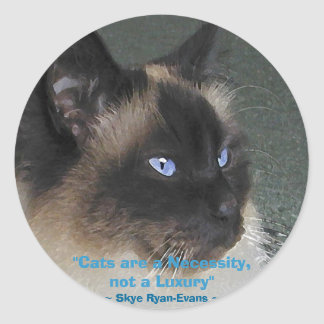 BIRMAN RAGDOLL CAT Collection Classic Round Sticker