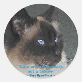 BIRMAN RAGDOLL CAT Collection Round Sticker
