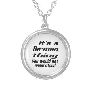 Birman thing designs round pendant necklace