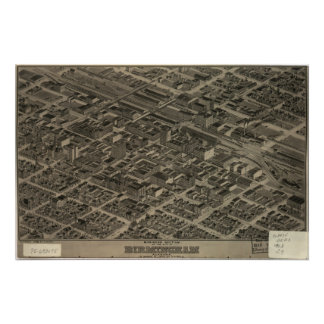 Birmingham Alabama 1904 Panoramic Map Poster