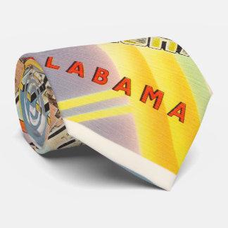 Birmingham Alabama AL Old Vintage Travel Souvenir Tie
