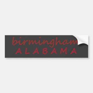birmingham alabama bumper sticker