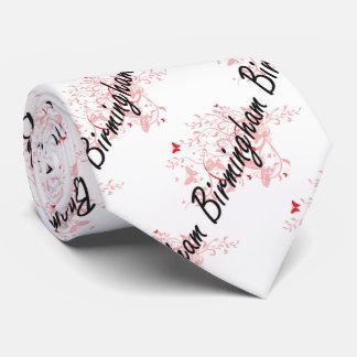 Birmingham Alabama City Artistic design with butte Tie