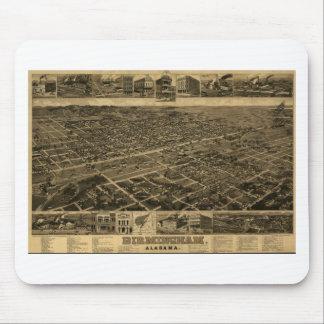 Birmingham Alabama Late 1800's Birds Eye View Mouse Mat