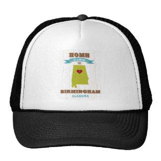Birmingham, Alabama Map – Home Is Where The Heart Trucker Hat
