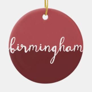 Birmingham, Alabama | Rust Circle Ombre Christmas Ornament