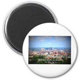 Birmingham, Alabama Skyline 6 Cm Round Magnet