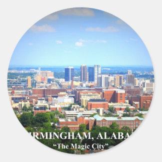 Birmingham, Alabama Skyline Classic Round Sticker