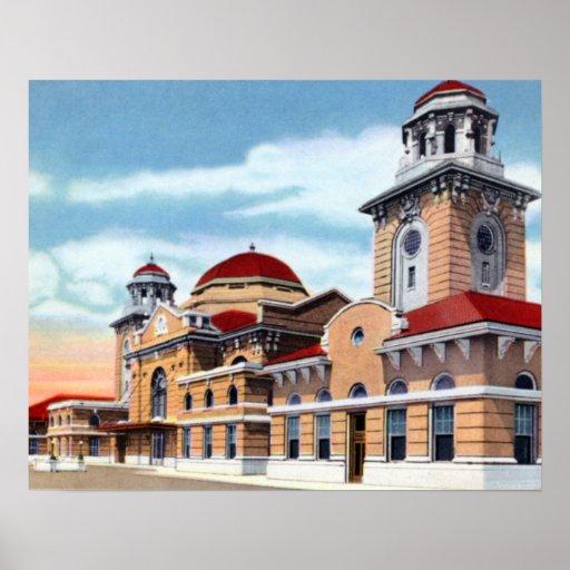 Birmingham Alabama Terminal Station Poster