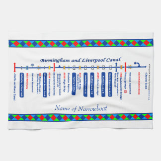 Birmingham and Liverpool Canal UK Waterways Blue Towel