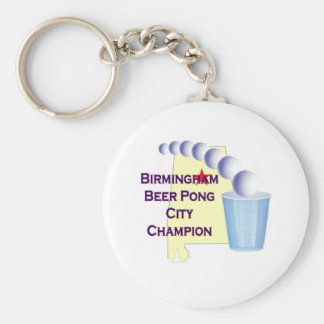 Birmingham Beer Pong Champion Keychain