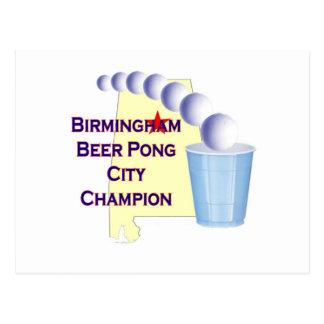Birmingham Beer Pong Champion Post Cards