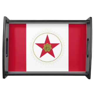 Birmingham city Alabama flag united states america Serving Tray
