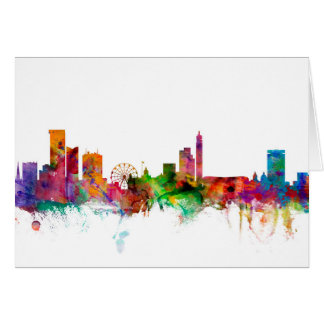 Birmingham England Skyline Card