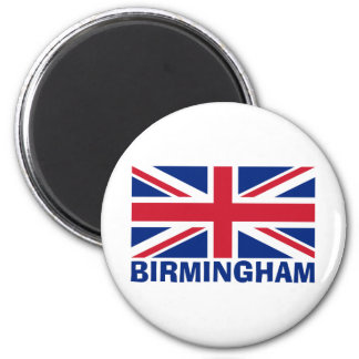 Birmingham in Blue 6 Cm Round Magnet