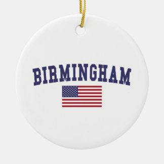 Birmingham US Flag Christmas Ornament