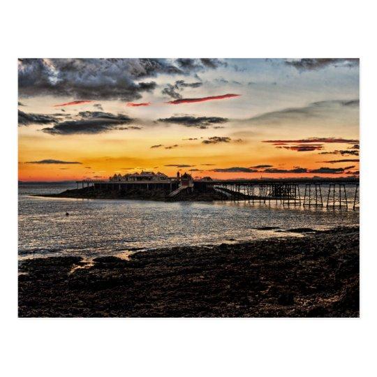 Birnbeck Pier and island Weston-super-Mare Postcard