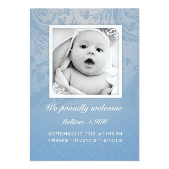 Birth Announcement 5x7 - No.1