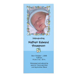 Birth Announcement - Baby Border