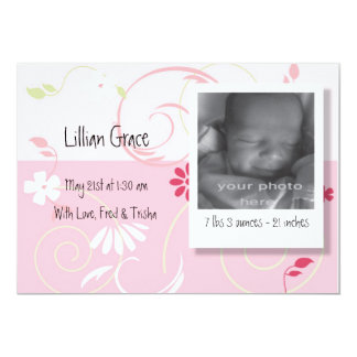 Birth Announcement Baby Girl
