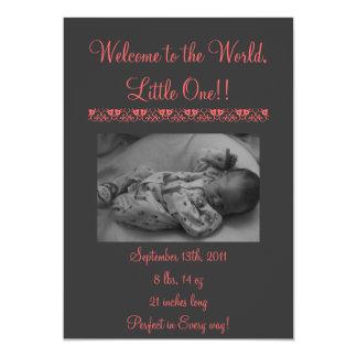 Birth Announcement Girl