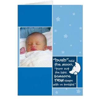 Birth Announcement: Hush Said the Moon Greeting Card