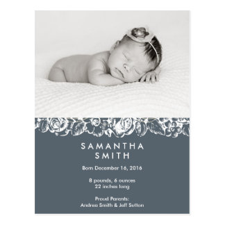 Birth announcement ı Postcard
