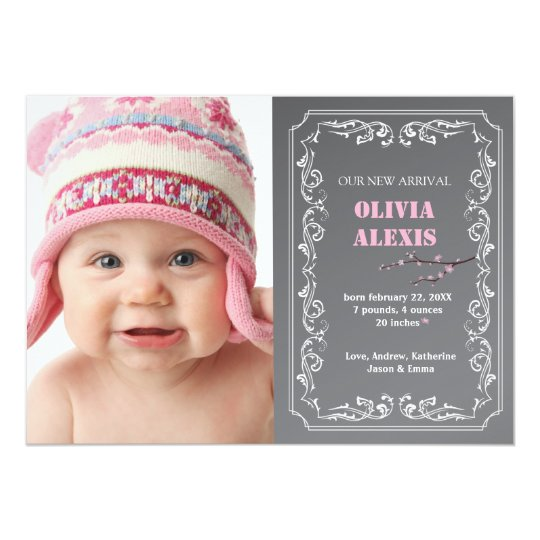 Birth Announcement Photo Chalkboard