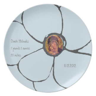 Birth announcement plate
