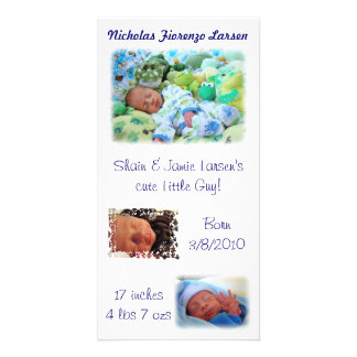 Birth Announcements Baby Nicholas Born Photo Cards