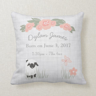 Birth Baby Pillow Lamb Boy Girl Nursery