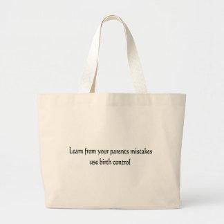 Birth Control Jumbo Tote Bag