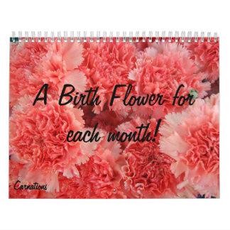 Birth Flower calender Calendars