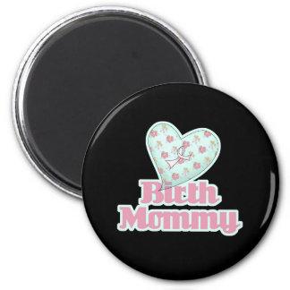 Birth Mommy Pink Ribbon Heart Fridge Magnet