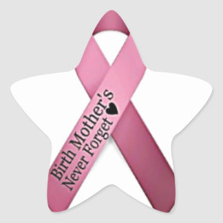 Birth Mother's Day Star Ribbon Star Sticker