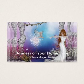 Birth of a Fairy Fantasy Elf Business Cards