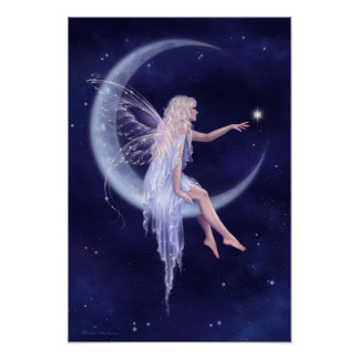 Birth of a Star Moon Fairy Poster Art Print