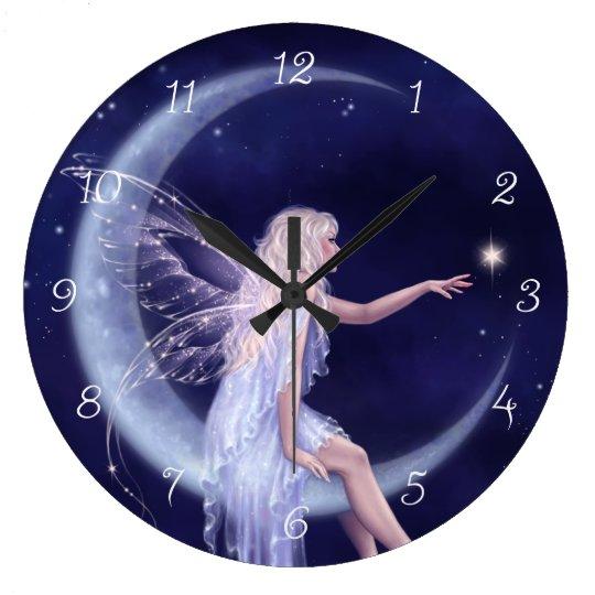 Birth of a Star Moon Fairy Wall Clock