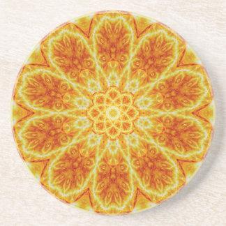 Birth of a Sun Mandala Coasters