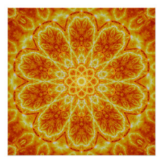 Birth of a Sun Mandala Poster
