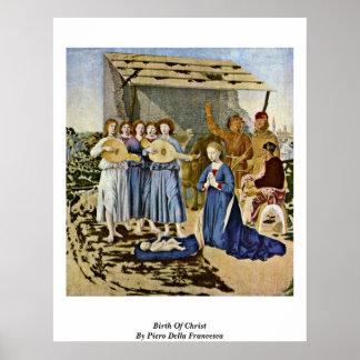 Birth Of Christ By Piero Della Francesca Poster