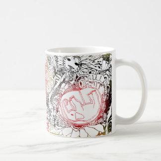 birth of elephant classic white coffee mug