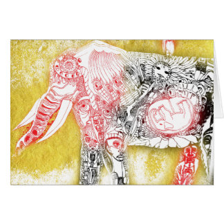 birth of elephant greeting card
